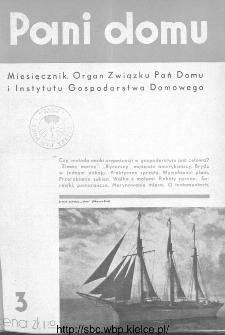 Pani Domu : miesięcznik poświęcony organizacji gospodarstwa domowego : organ Instytutu Gospodarstwa Domowego : organ Związku Pań Domu, 1935, nr 3