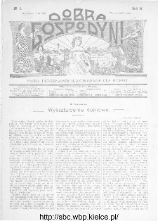 Dobra Gospodyni : pismo ilustrowane dla kobiet 1904, R.IV, nr 4
