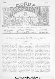 Dobra Gospodyni : pismo ilustrowane dla kobiet 1904, R.IV, nr 6