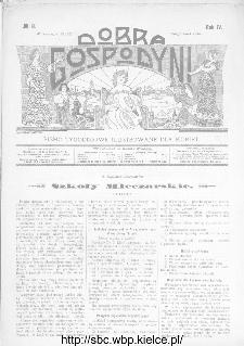 Dobra Gospodyni : pismo ilustrowane dla kobiet 1904, R.IV, nr 8