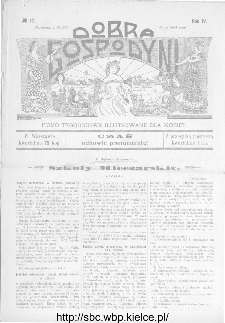 Dobra Gospodyni : pismo ilustrowane dla kobiet 1904, R.IV, nr 12