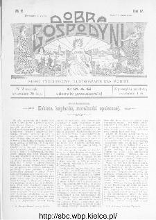 Dobra Gospodyni : pismo ilustrowane dla kobiet 1904, R.IV, nr 15