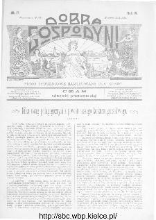 Dobra Gospodyni : pismo ilustrowane dla kobiet 1904, R.IV, nr 17