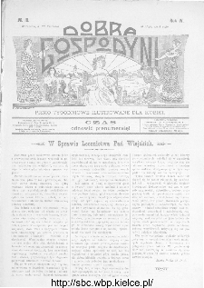 Dobra Gospodyni : pismo ilustrowane dla kobiet 1904, R.IV, nr 18