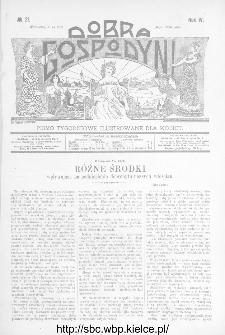 Dobra Gospodyni : pismo ilustrowane dla kobiet 1904, R.IV, nr 21