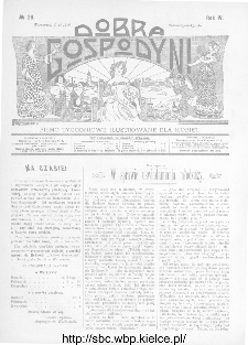 Dobra Gospodyni : pismo ilustrowane dla kobiet 1904, R.IV, nr 26