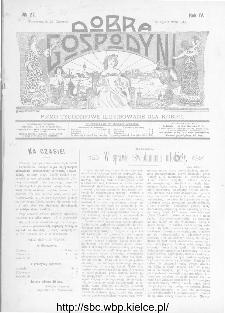 Dobra Gospodyni : pismo ilustrowane dla kobiet 1904, R.IV, nr 27