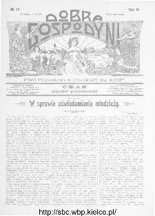 Dobra Gospodyni : pismo ilustrowane dla kobiet 1904, R.IV, nr 29