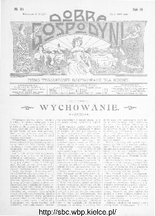 Dobra Gospodyni : pismo ilustrowane dla kobiet 1904, R.IV, nr 30