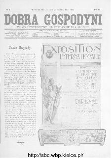 Dobra Gospodyni : pismo ilustrowane dla kobiet 1904, R.IV, nr 31