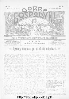 Dobra Gospodyni : pismo ilustrowane dla kobiet 1904, R.IV, nr 35
