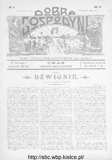 Dobra Gospodyni : pismo ilustrowane dla kobiet 1904, R.IV, nr 41