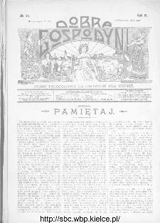 Dobra Gospodyni : pismo ilustrowane dla kobiet 1904, R.IV, nr 43