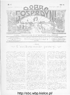 Dobra Gospodyni : pismo ilustrowane dla kobiet 1904, R.IV, nr 45