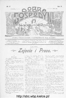 Dobra Gospodyni : pismo ilustrowane dla kobiet 1904, R.IV, nr 46