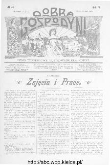 Dobra Gospodyni : pismo ilustrowane dla kobiet 1904, R.IV, nr 47
