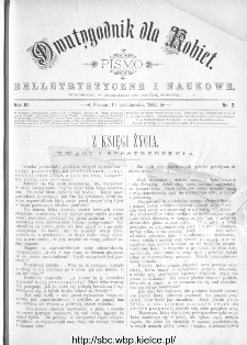 Dwutygodnik dla Kobiet : pismo beletrystyczne i naukowe, R.3, 1882, nr 2