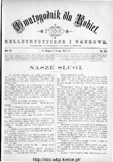 Dwutygodnik dla Kobiet : pismo beletrystyczne i naukowe, R.3, 1883, nr 10