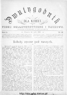 Dwutygodnik dla Kobiet : pismo beletrystyczne i naukowe, R.3, 1883, nr 22