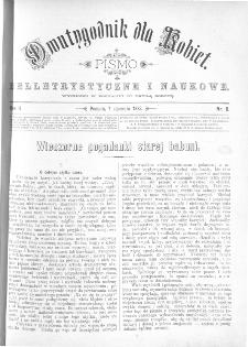 Dwutygodnik dla Kobiet : pismo beletrystyczne i naukowe, R.2, 1882, nr 8