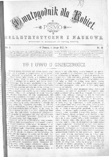 Dwutygodnik dla Kobiet : pismo beletrystyczne i naukowe, R.2, 1882, nr 10