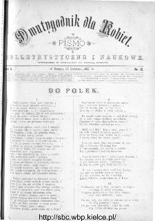 Dwutygodnik dla Kobiet : pismo beletrystyczne i naukowe, R.2, 1882, nr 16