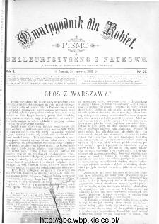 Dwutygodnik dla Kobiet : pismo beletrystyczne i naukowe, R.2, 1882, nr 20