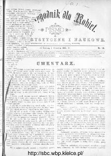 Dwutygodnik dla Kobiet : pismo beletrystyczne i naukowe, R.2, 1882, nr 25