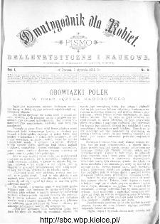 Dwutygodnik dla Kobiet : pismo beletrystyczne i naukowe, R.1, 1881, nr 8