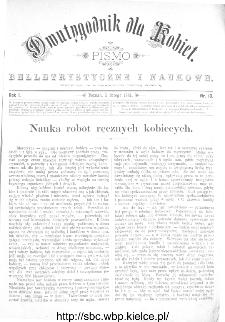 Dwutygodnik dla Kobiet : pismo beletrystyczne i naukowe, R.1, 1881, nr 10