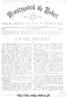 Dwutygodnik dla Kobiet : pismo beletrystyczne i naukowe, R.1, 1881, nr 14