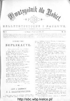 Dwutygodnik dla Kobiet : pismo beletrystyczne i naukowe, R.1, 1881, nr 19