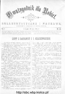 Dwutygodnik dla Kobiet : pismo beletrystyczne i naukowe, R.1, 1881, nr 22