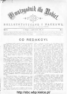 Dwutygodnik dla Kobiet : pismo beletrystyczne i naukowe, R.2, 1881, nr 1