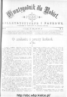 Dwutygodnik dla Kobiet : pismo beletrystyczne i naukowe, R.2, 1881, nr 5