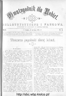 Dwutygodnik dla Kobiet : pismo beletrystyczne i naukowe, R.2, 1881, nr 6