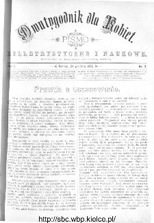 Dwutygodnik dla Kobiet : pismo beletrystyczne i naukowe, R.2, 1881, nr 7