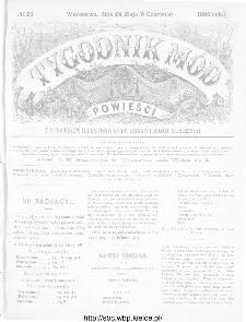 Tygodnik Mód i Powieści : z dodatkiem illustrowanym ubrań i robót kobiecych 1886, nr 23