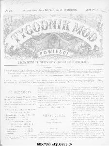 Tygodnik Mód i Powieści : z dodatkiem illustrowanym ubrań i robót kobiecych 1886, nr 36