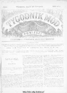 Tygodnik Mód i Powieści : z dodatkiem illustrowanym ubrań i robót kobiecych 1886, nr 47