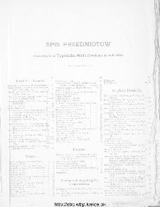 Spis przedmiotów zawartych w Tygodniku Mód i Powieści za rok 1886