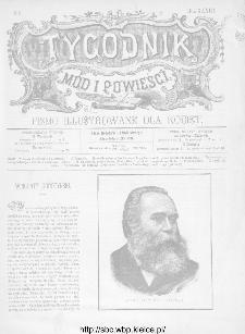 Tygodnik Mód i Powieści : z dodatkiem illustrowanym ubrań i robót kobiecych 1891, R.XXXIII, nr 8