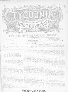 Tygodnik Mód i Powieści : z dodatkiem illustrowanym ubrań i robót kobiecych 1891, R.XXXIII, nr 16