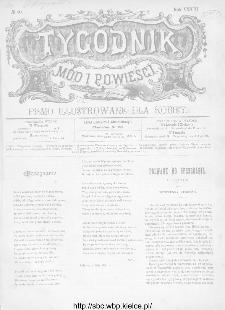 Tygodnik Mód i Powieści : z dodatkiem illustrowanym ubrań i robót kobiecych 1891, R.XXXIII, nr 40
