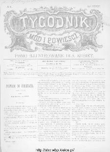 Tygodnik Mód i Powieści : z dodatkiem illustrowanym ubrań i robót kobiecych 1891, R.XXXIII, nr 41