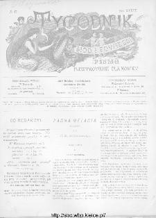 Tygodnik Mód i Powieści : z dodatkiem illustrowanym ubrań i robót kobiecych 1892, R.XXXIV, nr 37