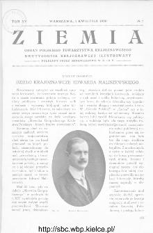Ziemia : dwutygodnik krajoznawczy ilustrowany 1930, R.XV, nr 7