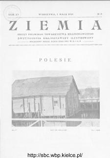 Ziemia : dwutygodnik krajoznawczy ilustrowany 1930, R.XV, nr 9