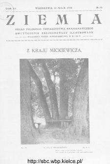 Ziemia : dwutygodnik krajoznawczy ilustrowany 1930, R.XV, nr 10