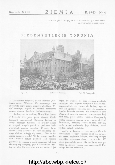 Ziemia : dwutygodnik krajoznawczy ilustrowany 1933, R.XXIII, nr 4
